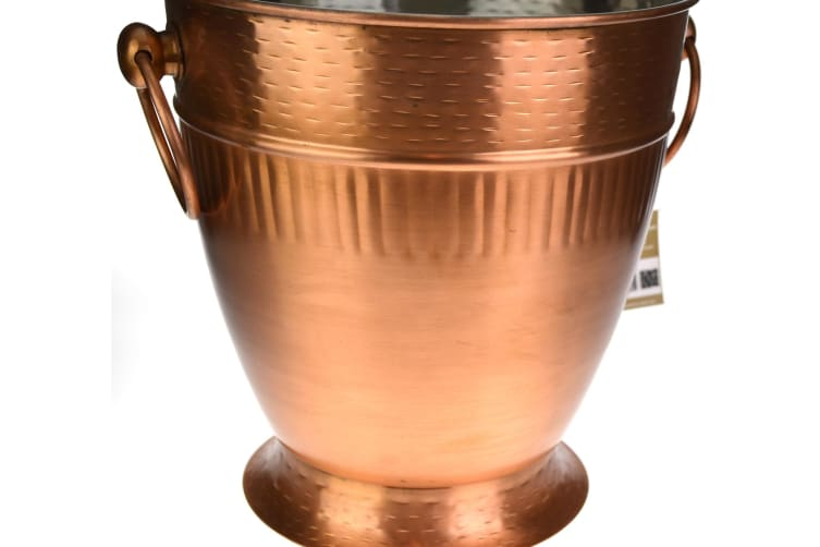 Moda Ribbed Copper Look Champagne Bucket
