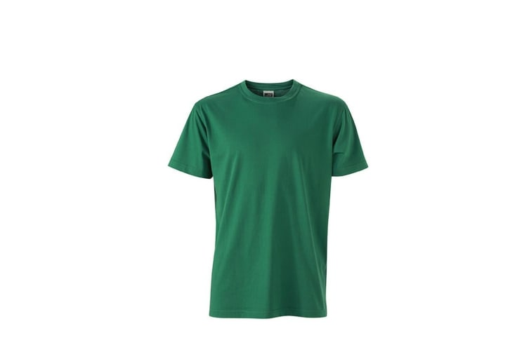 James and Nicholson Mens Workwear T-Shirt (Dark Green) (XS)