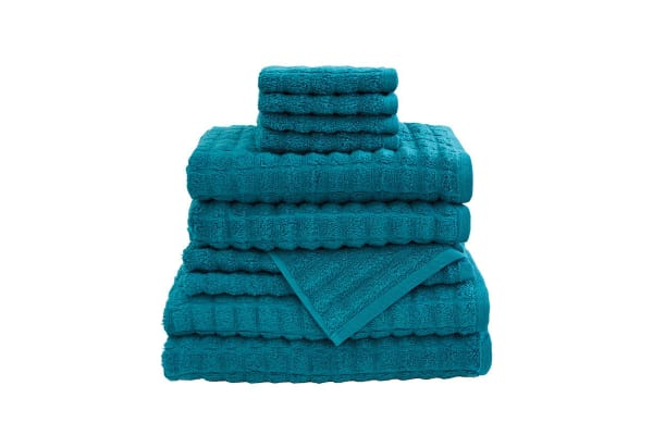 Bambury Manhatten Quick Dry 10 Piece Cotton Towel Pack | Teal