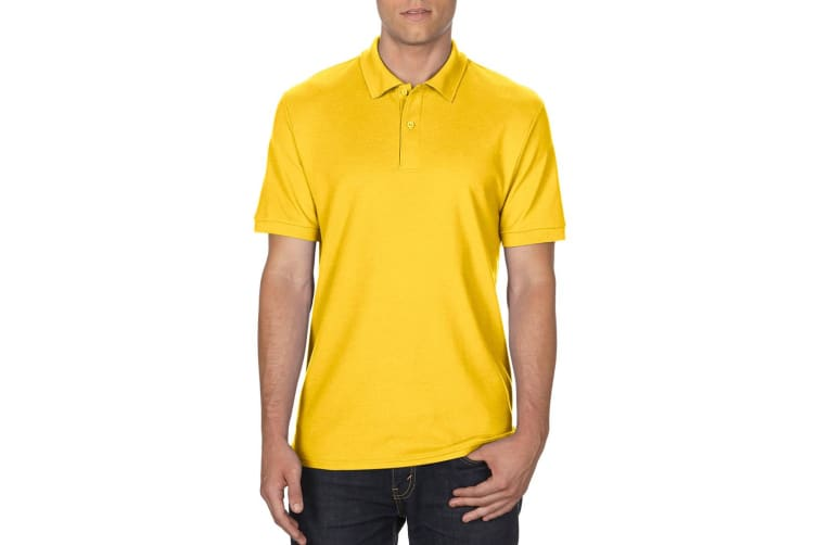 Gildan Mens DryBlend Adult Sport Double Pique Polo Shirt (Daisy) (2XL)