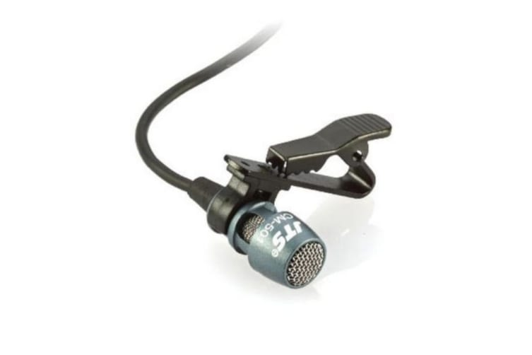 JTS Dynamic Unidirectional Lapel Microphone with 4P Mini XR Plug Suit PT920B Body Pack