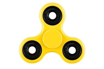 3D Hand Spinner Fidget Toy Stress Reliever Fast Bearing Gear Spin Abs Yellow