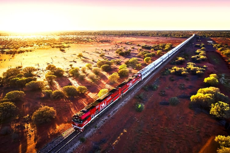 The Ghan – 6 Day Luxury Rail Package from Adelaide to Darwin Including Flights for Two (Departing ADL)