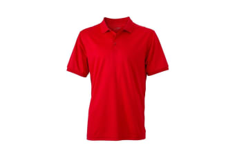 James and Nicholson Mens Active Polo (Red) (M)