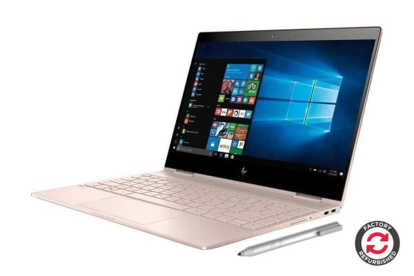 "HP Spectre x360 13"" FHD Touch Screen 2-in-1 Laptop (i7-8550U, 16GB Ram, 360GB SSD, Rose Gold) - Certified Refurbished"