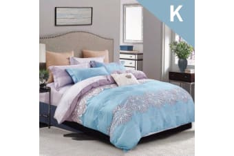 King Size Maple Leaves Design Quilt Cover Set