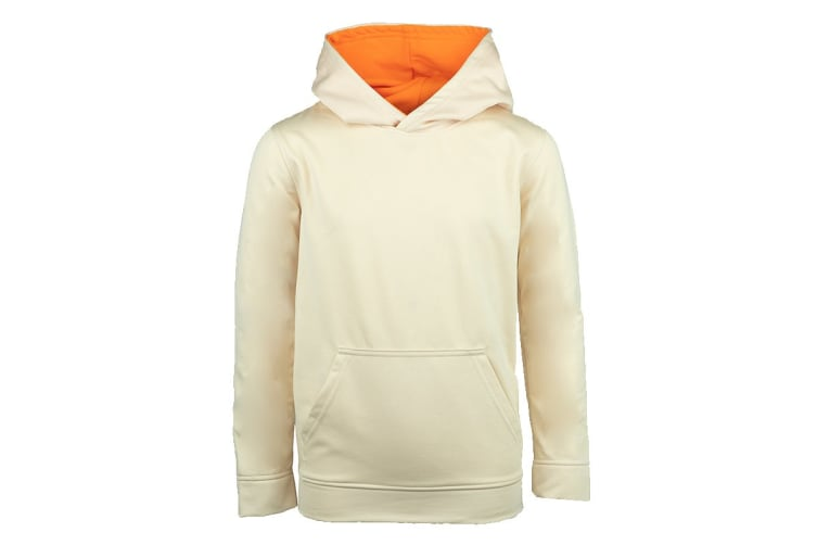 Champion Boys' Solid Performance Pullover Hoodie (Off White, Size S)