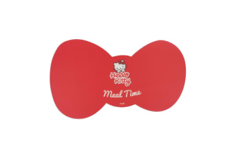 Hello Kitty Meal Time Pet Feeding Mat (Red) (One Size)