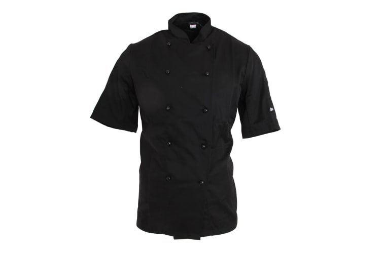 Dennys AFD Adults Unisex Thermocool Chefs Jacket (Black) (L)