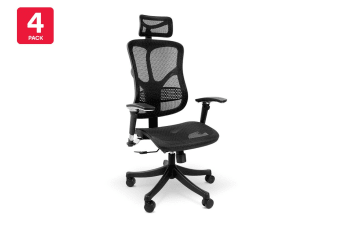 4 Pack Ergolux EZ8 Ergonomic Mesh Office Chair