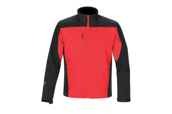 Stormtech Mens Edge Softshell Jacket (Waterproof And Breathable) (Stadium Red/Black)