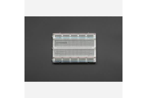 400 TIE POINT INTERLOCKING SOLDERLESS BREADBOARD - Crystal
