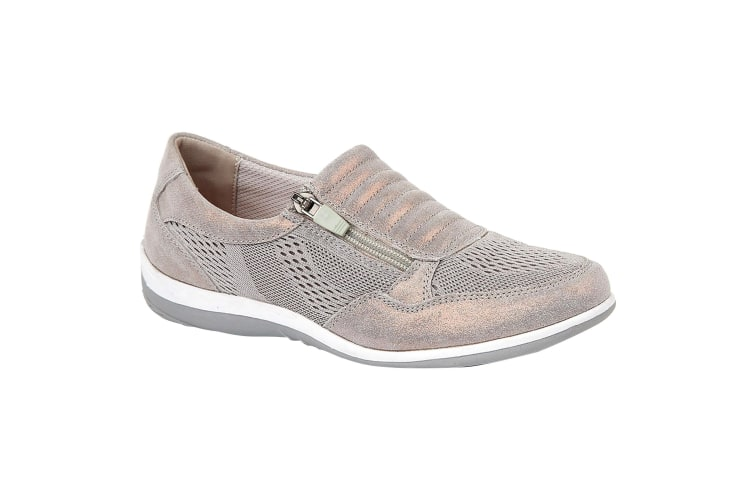 Boulevard Womens/Ladies Suede/Textile Shoes (Grey Shimmer) (4 UK)