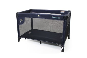 Vee Bee Commuter Cot Toddler/Baby Portable/Foldable Travel Bed/Crib w/ Bag Navy