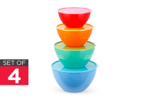 Ovela Set of 4 Colour Mixing Bowls with Lids