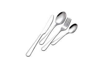 Stainless Steel Flatware Set With Knives Forks Spoons Silver