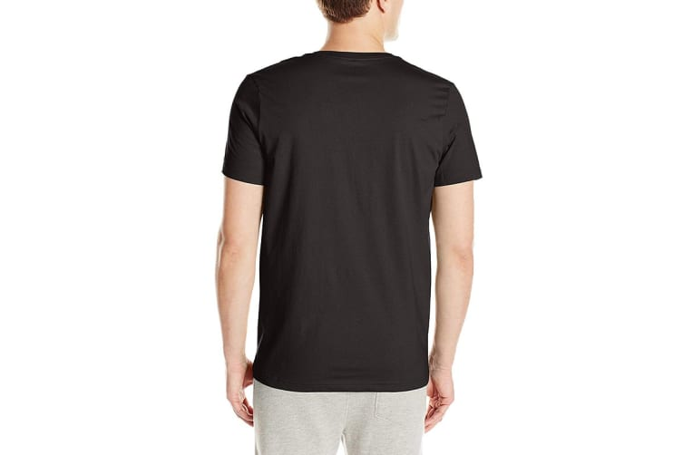 Tommy Hilfiger Men's V-Neck Flag Tee (Black, Size M)