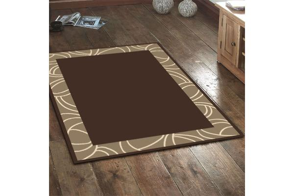 Modern Border Rug - Brown 230x160cm