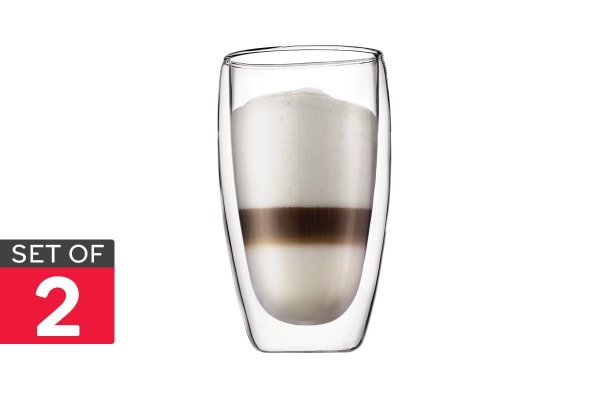 Set of 2 Bodum Pavina Double Wall Glasses - 450ml/Large (4560-10)