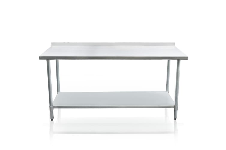 NSF Certified Stainless Steel Commercial/Home Kitchen Prep & Work Table with Under Shelf 152cm x 76cm