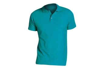 SOLS Mens Summer II Pique Short Sleeve Polo Shirt (Aqua)