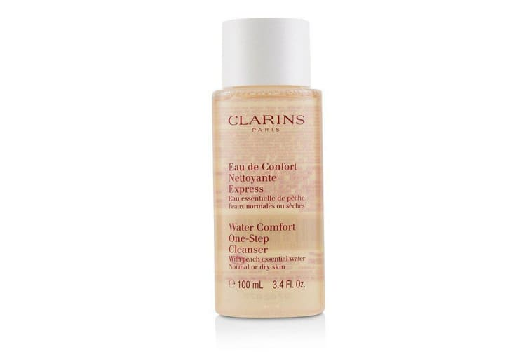 Clarins Water Comfort One-Step Cleanser With Peach Essential Water - For Normal or Dry Skin 100ml