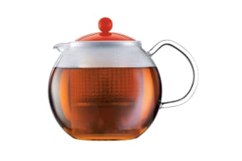 Bodum Assam Tea Press with Glass Handle & Coloured Plastic Lid - 0.5 L, 17 oz (1823-294)