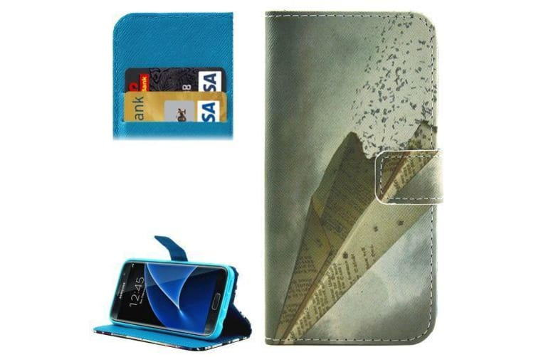 For Samsung Galaxy S7 Wallet Case Flying Paper Shielding Leather Cover