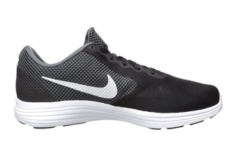Nike Men's Air Revolution 3 Shoe (Dark Grey/White/Black, Size 9)