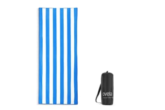 Ovela Sand Free Beach Towel (Blue)