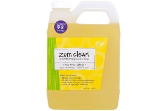 Indigo Wild Zum Clean Aromatherapy Highly Concentrated Handmade Essential Oils for Laundry & Machine Friendly Clothes Washing Soap - Tea TreeCitrus, 940ml