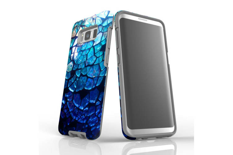 For Samsung Galaxy S8 Case Armour Cover  Blue Mirror