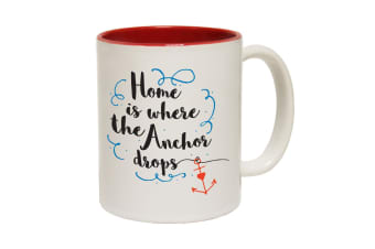 123T Funny Mugs - Home Anchor Drops - Red Coffee Cup