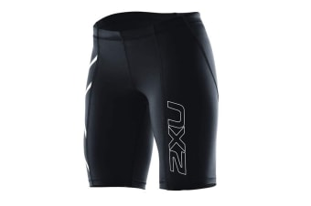 2XU Women's Compression Short G1 (Black/Black, Size M)