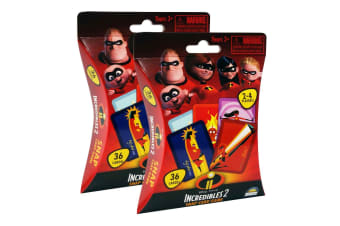2x 36pc Disney Incredibles 2 Snap Kids Educational Toy Playing Deck Card Game 3+