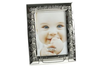 Juliana My Christening Day Silver Plated Antique Photo Frame (Silver) (One Size)