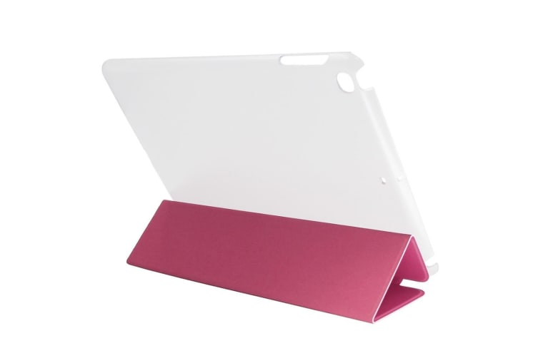For iPad 2018 2017 Case Toothpick Textured Smart Durable Leather Cover Magenta