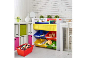 Kids Children Bookcase Book Magazine Shelf Toy Bins