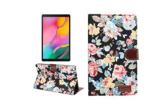 For Samsung Galaxy Tab A 8.0-Inch (2019) Case  PU Leather Cover  Stand  Card Slots  Sleep/Wake Function  Black