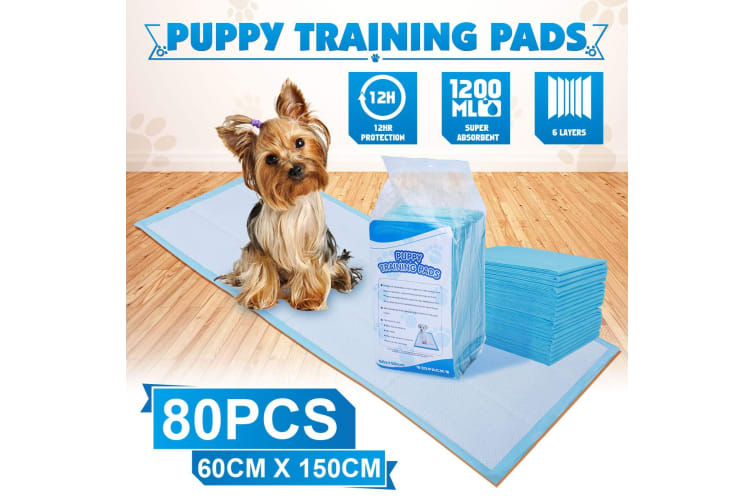 Pack of 80PCs 60 cm x 150 cm Puppy Training Pads for Puppies & Indoor Dogs