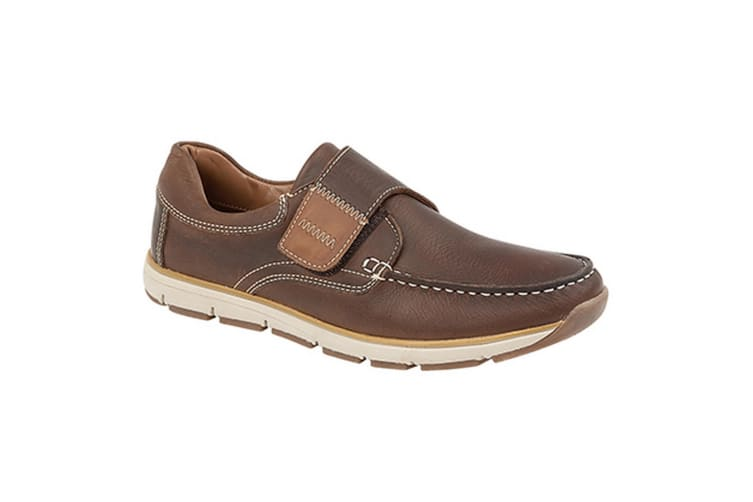 Roamers Superlight Mens Touch Fastening Moccasin Leisure Shoes (Brown) (12 UK)