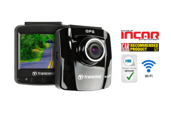 Transcend DrivePro 220 Dash Cam with GPS, Wi-Fi and FREE 16GB MLC Memory Card (TS16GDP220M)
