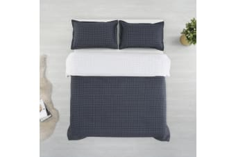 Printed Cotton Sateen Quilt Cover Set Double Bed Walker