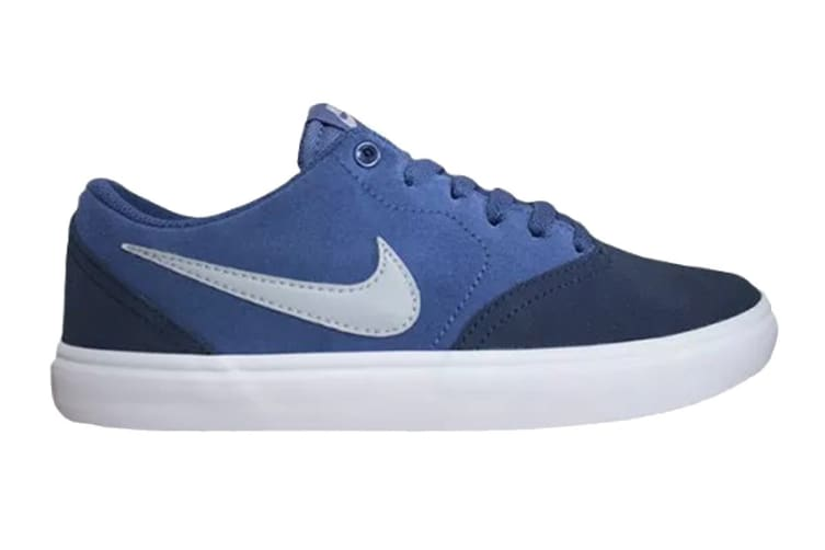 Nike Men's SB Check Solar Shoes (Blue/White, Size 12 US)