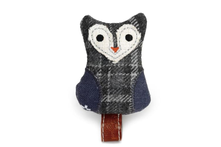 Designed By Lotte Plush Owl Cat Toy (Grey) (7.5cm)