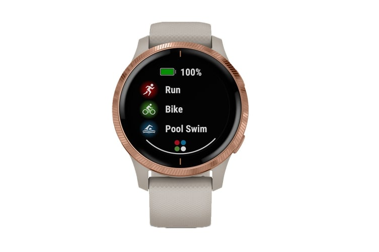 Garmin Venu (Light Sand with Rose Gold Hardware)