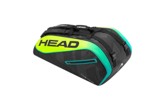 "Head Tour Team 31"" Extreme 9R Supercombi Shoulder Bag for Tennis Rackets BLK/YEL"