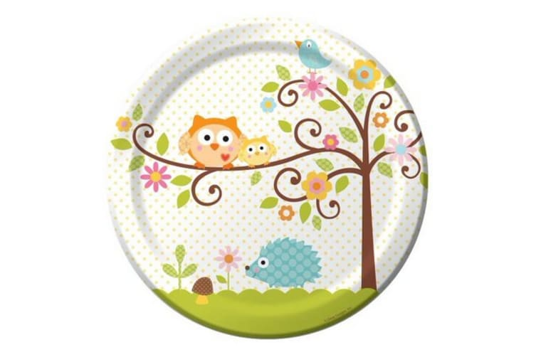 Creative Converting Happi Tree Party Plates (Pack of 8) (Multicoloured) (One Size)