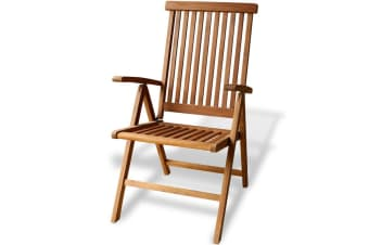 vidaXL Folding Garden Chair Solid Teak Wood