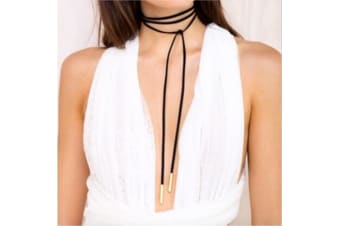 Punk Gothic Long Chain Necklaces Tassel Tattoo Choker Tube on the Ends G0063